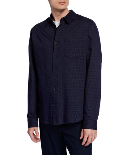 Men's Pin-Dot Cotton Sport Shirt
