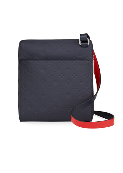 Men's Benech Embossed Leather Crossbody Bag