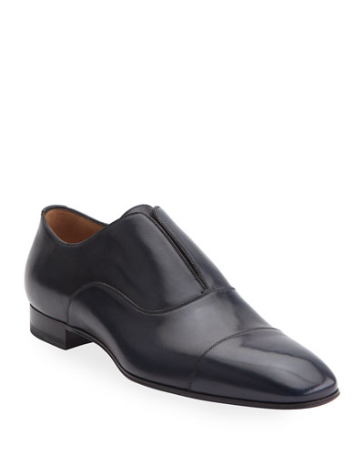 Men's Alpha Male Leather Slip-On Shoes