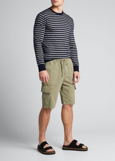 Men's Pull-On Military Cargo Shorts