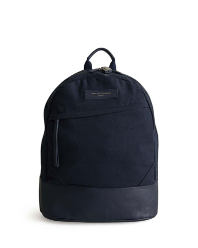 Men's KSTRP Leather-Trim Backpack