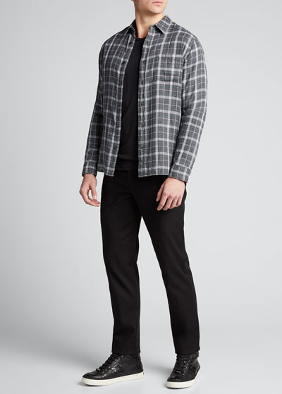 Men's Plaid Double-Face Sport Shirt