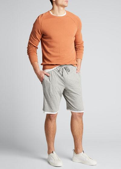 Men's Double-Layer Drawstring Shorts