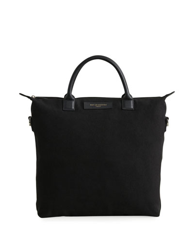 Men's O'Hare Organic Cotton Tote Bag w/ Leather Trim
