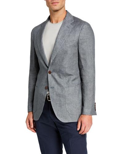 Men's Two-Button Linen Jacket