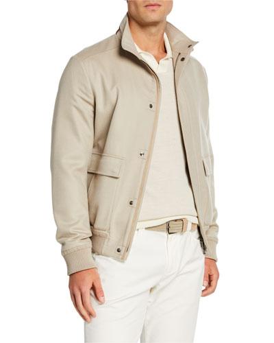 Men's Glendale Cashmere Bomber Jacket