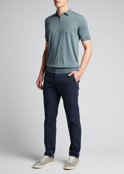 Men's Wish Wool Quarter-Zip Polo Shirt