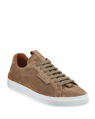 Men's Ferrara Suede Low-Top Sneakers