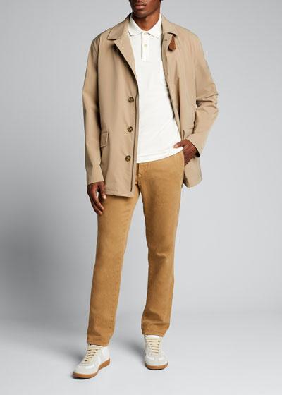 Men's Bowery Dual Fastening Goatskin Trim Jacket