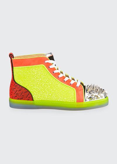 Men's No Limit Spiked Neon High-Top Sneakers