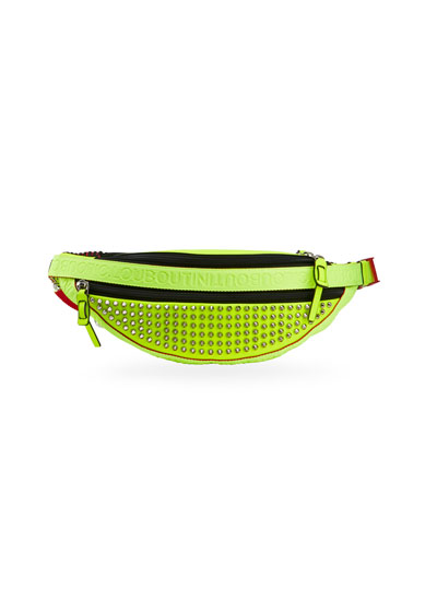 Men's Paris NYC Spiked Fluo Belt Bag