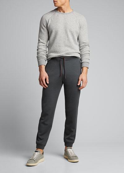 Men's Rib-Knit Jogger Pants