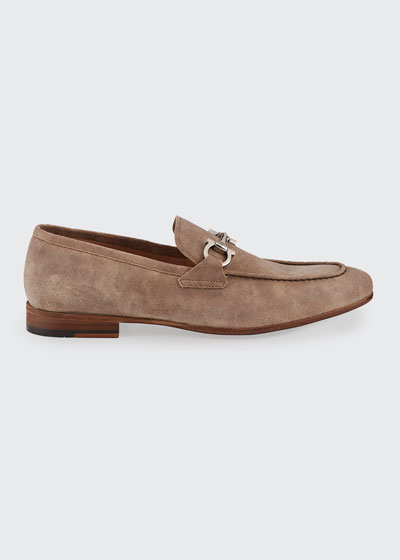 Men's Steve Suede Gancini-Bit Loafers
