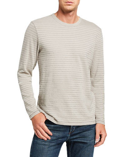 Men's Railroad Striped Long-Sleeve T-Shirt