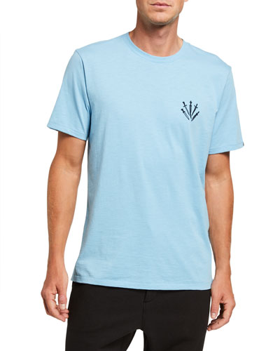 Rag /& Bone Men's Black//Heather Gray Reversible Slim Fit Short Sleeve T-Shirt