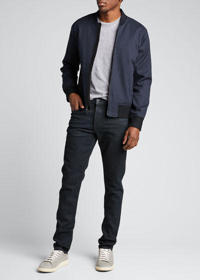 Men's Fit 1 Dark-Wash Tapered Jeans