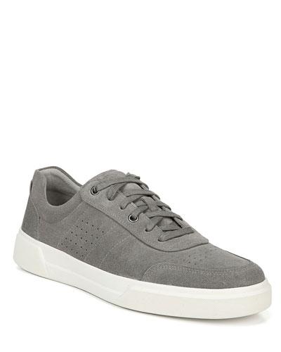 Men's Barnett Perforated Suede Low-Top Sneakers