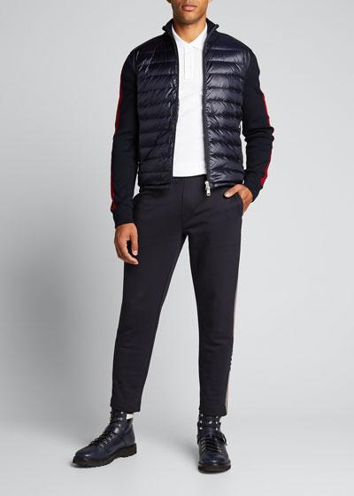 Men's Quilted-Front Zip-Front Jacket
