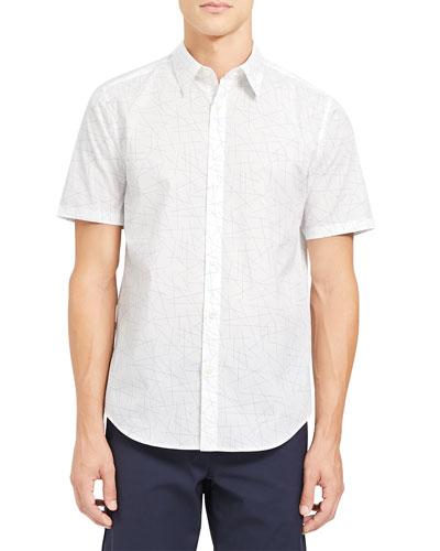 Men's Irving Sustina Patterned Sport Shirt