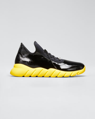 Men's Fade Contrast-Sole Running Sneakers