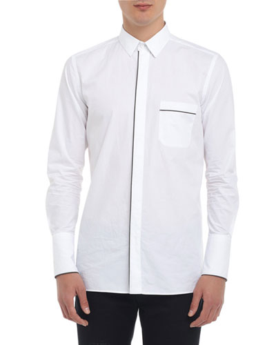 Men's Multi-Piping Poplin Shirt