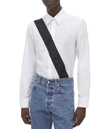 Men's Slash-Band Dress Shirt