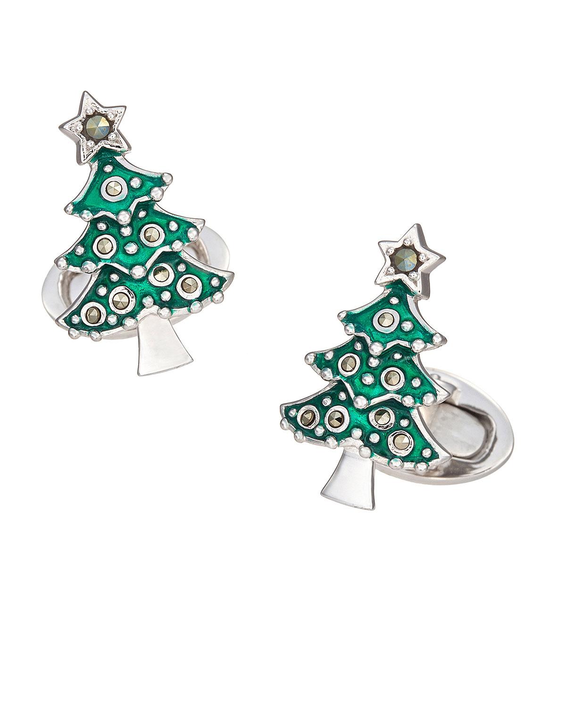 Jan Leslie Accessories MEN'S CHRISTMAS TREE CUFFLINKS