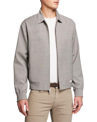 Men's McGregor Check Zip-Front Jacket