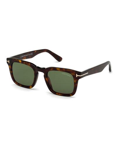 Men's Dax Square Tortoiseshell Sunglasses