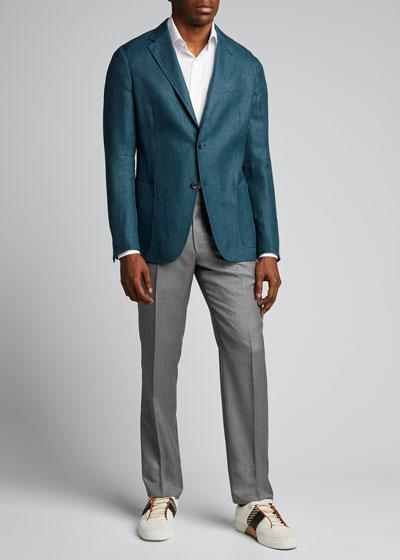 Men's Twill Two-Button Blazer
