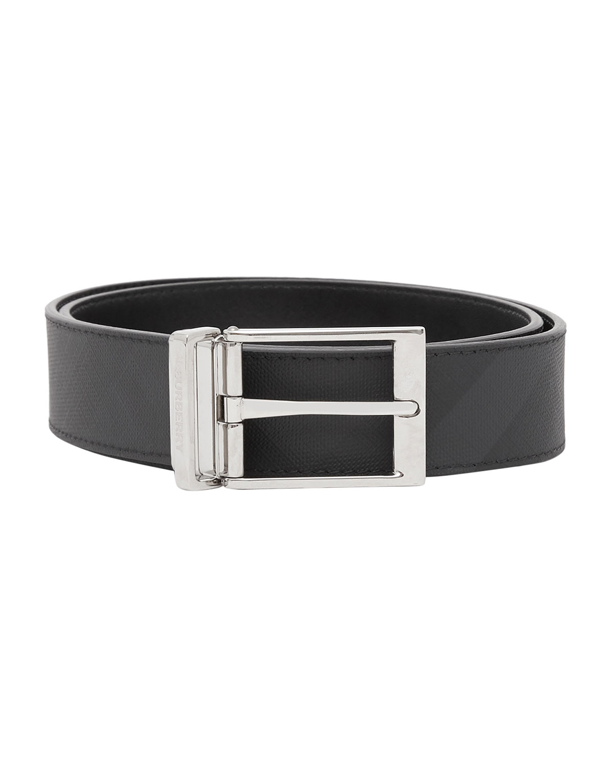 Burberry Belts MEN'S LOUIS REVERSIBLE LONDON CHECK/SMOOTH LEATHER BELT