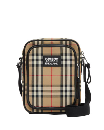 Men's Freddie Vintage Check Camera Bag