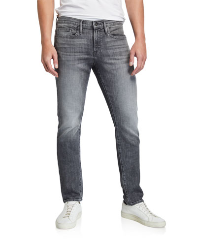 Men's L'Homme Slim-Fit Gray-Wash Jeans