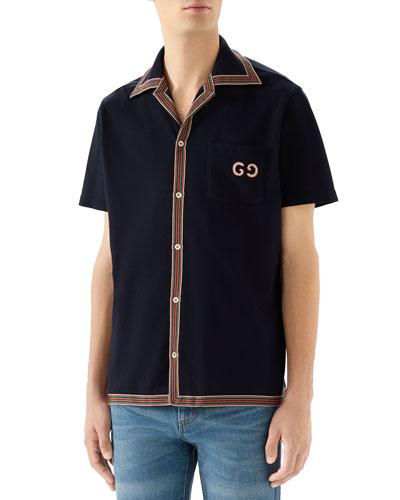 Men's Short-Sleeve Jersey Sport Shirt