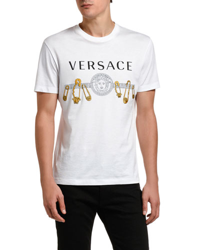 Men's Safety Pin Graphic Tee
