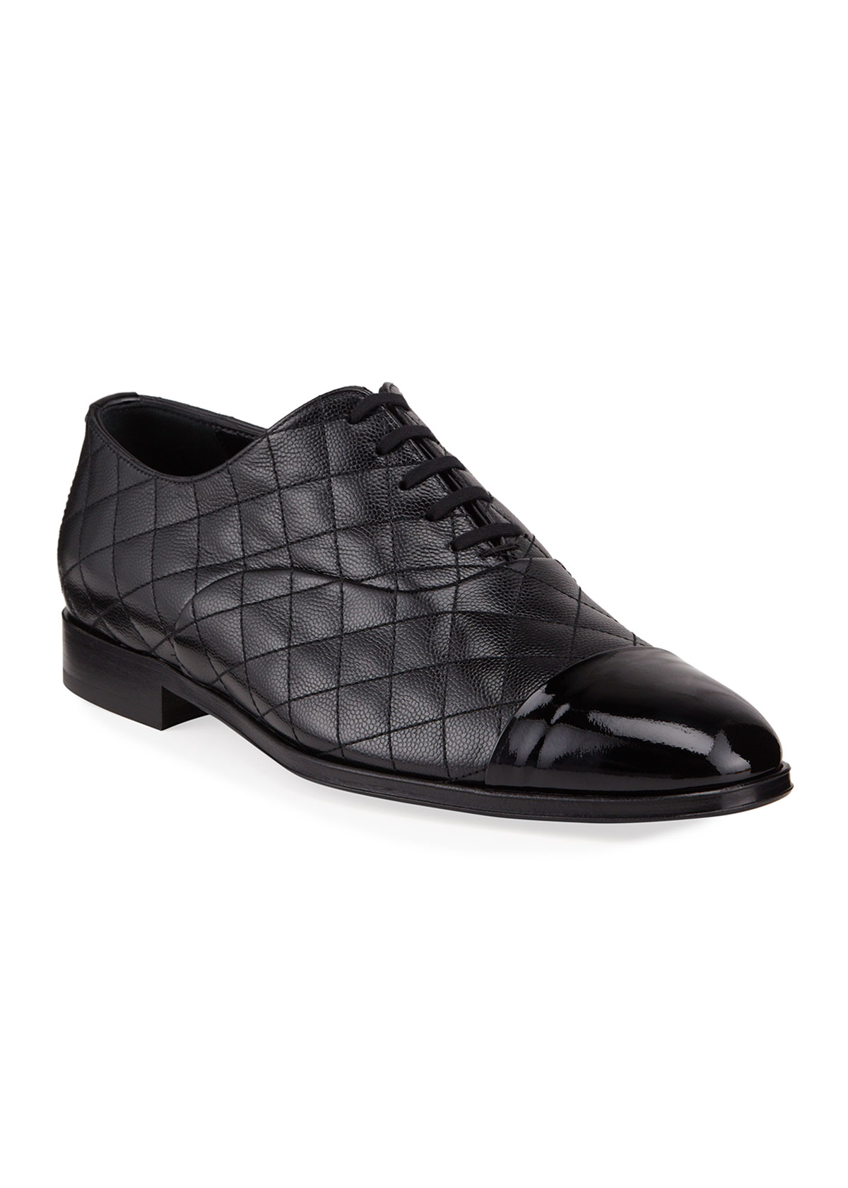 Burberry MEN'S QUILTED LEATHER OXFORD SHOES