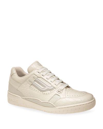 Men's Kuba Retro Textured Leather Sneakers