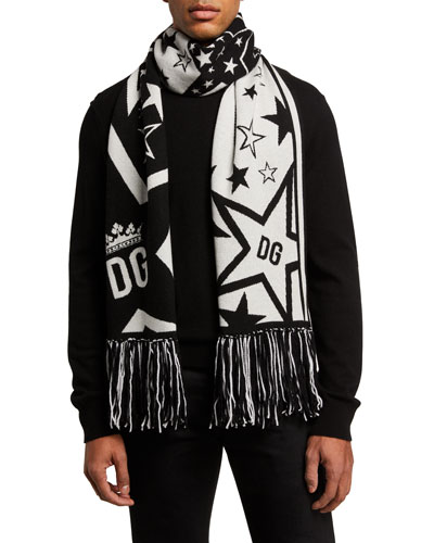 Men's DG Star Fringe Scarf