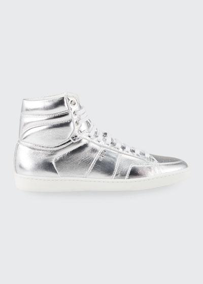 Men's Metallic Court Classic High-Top Sneakers