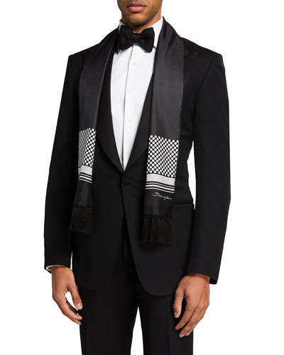 Men's Patterned Formal Satin Scarf