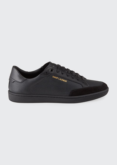 Men's Court Classic Perforated Leather Sneakers