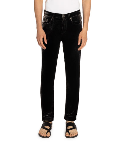Men's 5-Pocket Velvet Skinny Pants