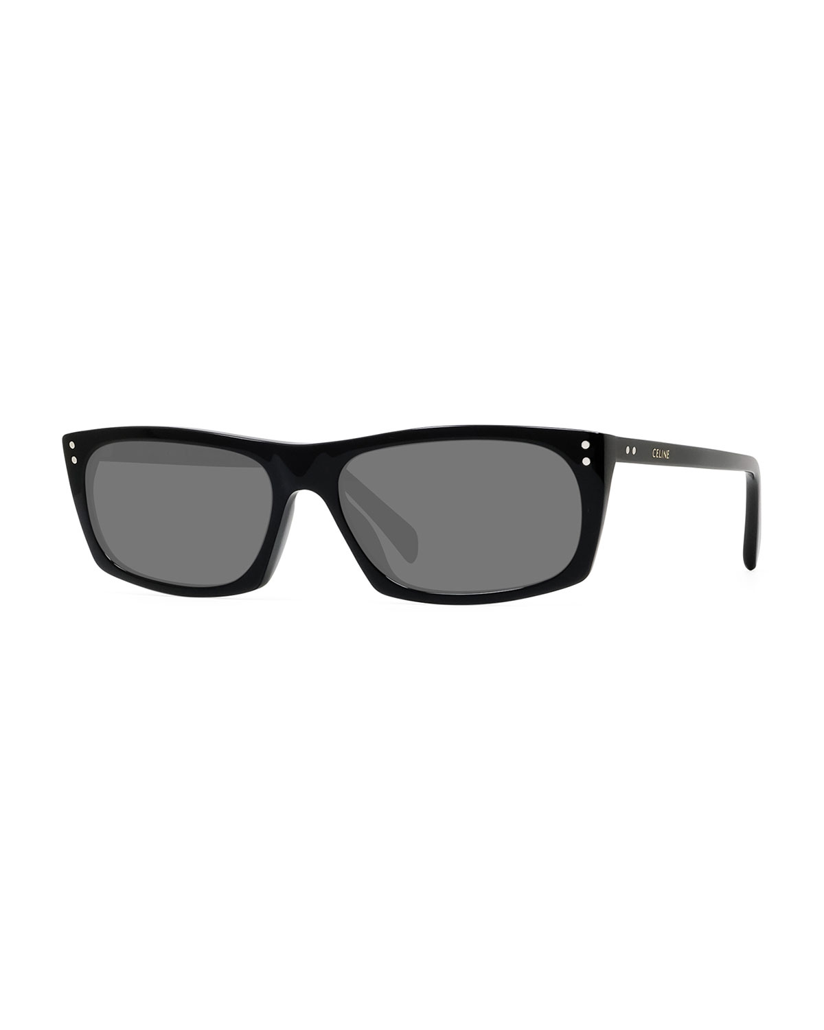 Celine Sunglasses MEN'S RECTANGLE STUDDED ACETATE SUNGLASSES