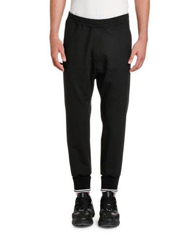 Men's Drop-Crotch Jogger Pants