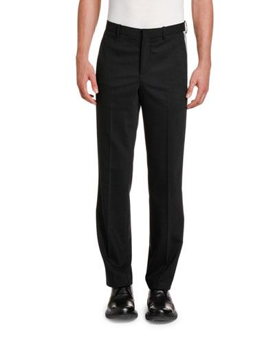 Men's Relaxed Side-Stripe Tuxedo Pants