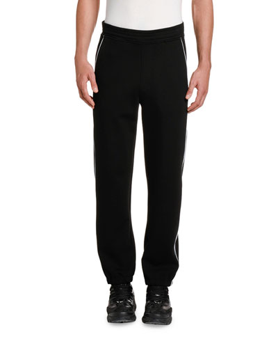 Men's Knit Jogging Pants with Piping