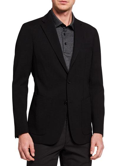 Men's New Chambers Seersucker Two-Button Jacket