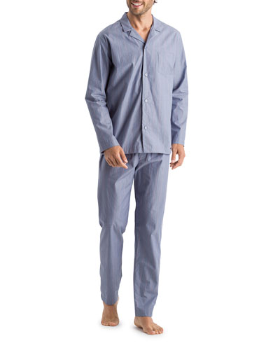 Men's Lynel Striped Cotton Pajama Set