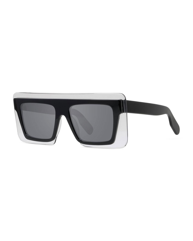 Kenzo Sunglasses MEN'S RECTANGLE SHIELD ACETATE SUNGLASSES
