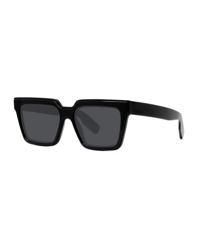 Men's Square Solid Acetate Sunglasses